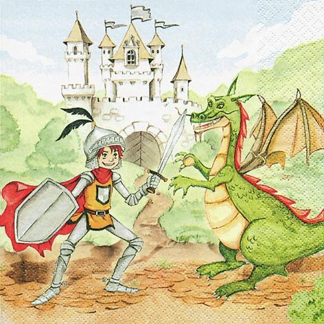 Lunch Servietten Training Your Dragon,  Everyday,  lunchservietten,  Ritter,  Dinosaurier,  Burg