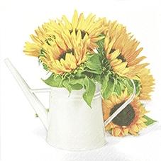 Everyday,  Blumen - Sonnenblumen,  Everyday,  lunchservietten,  Sonnenblume,  Gießkanne