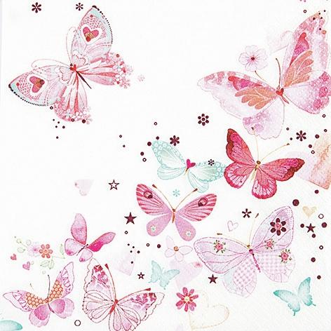 Lunch Servietten Lovely Butterflies