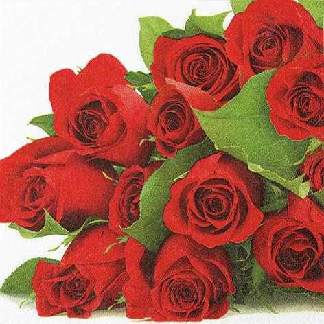 Lunch Servietten Bunch of Roses,  Blumen - Rosen,  Everyday,  lunchservietten,  Rosen