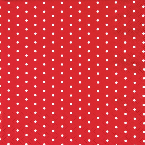 Lunch Servietten Mini Dots red/white
