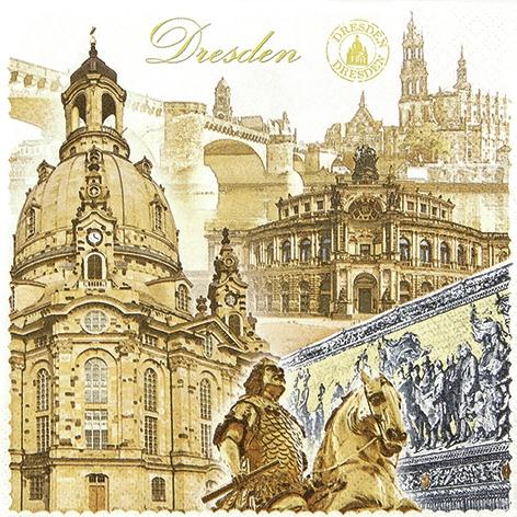 Lunch Servietten Dresden,  Regionen - Länder - Städte,  Everyday,  lunchservietten,  Dresden