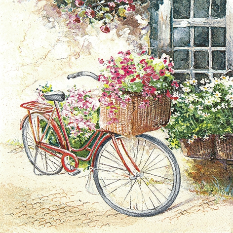 Lunch Servietten Flower Bike