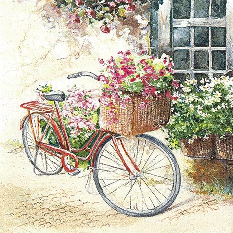 Serviettes lunch Flower Bike