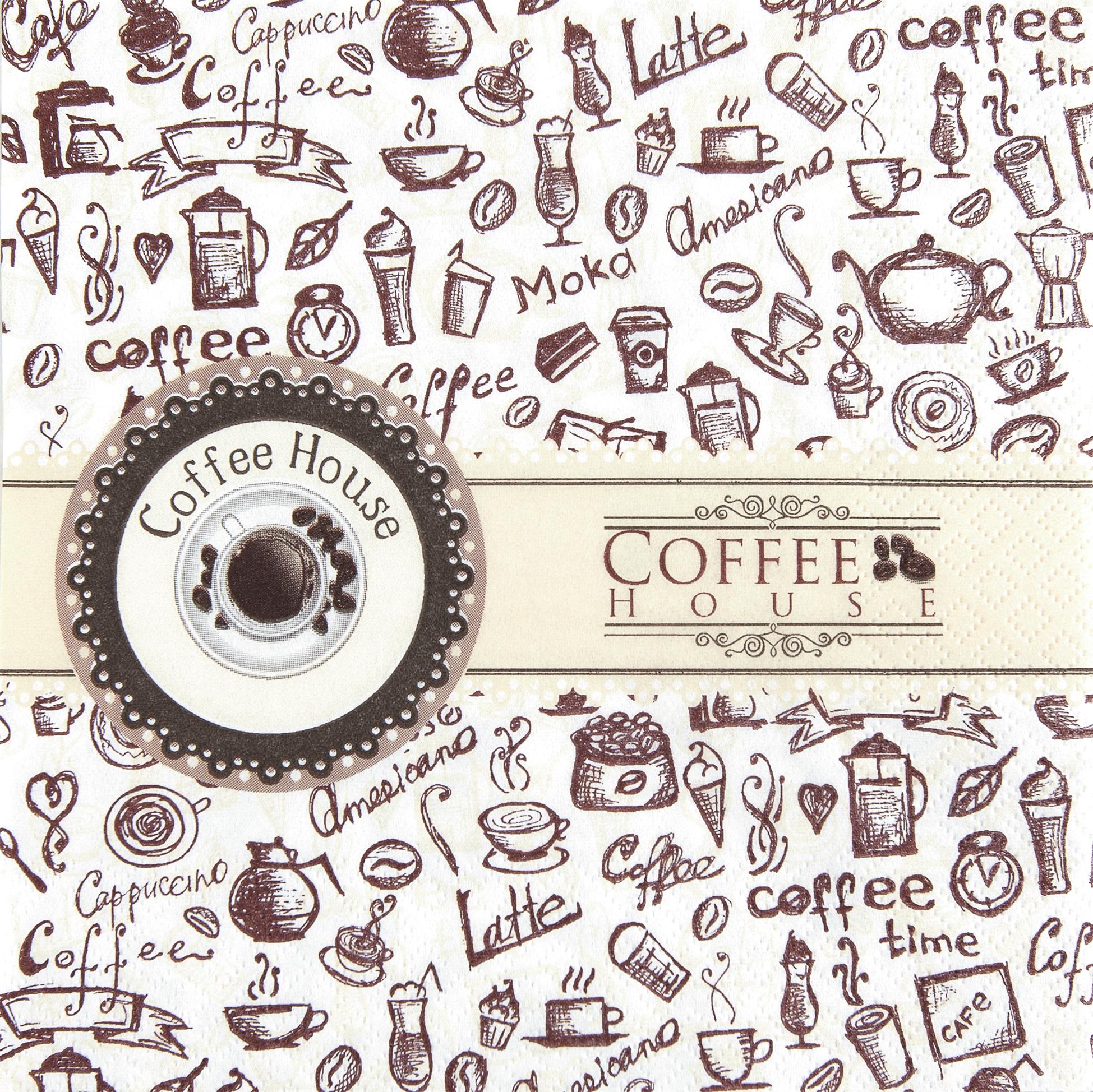 Lunch Servietten Coffee House,  Getränke Kaffee / Tee,  Everyday,  lunchservietten,  Kaffee,  Cappuccino