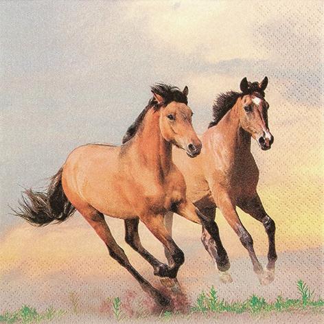 Lunch Servietten Wild Horses
