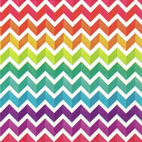 Lunch Servietten Rainbow Chevron