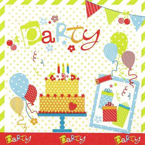 Lunch Servietten Party Party Party,  Ereignisse - Geburtstag,  Ereignisse - Feier,  Everyday,  lunchservietten,  Party,  Geburtstag