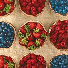Lunch Servietten Fresh Berries,  Früchte - Himbeeren,  Früchte - Erdbeeren,  Everyday,  lunchservietten,  Erdbeeren,  Himbeeren,  Heidelbeeren