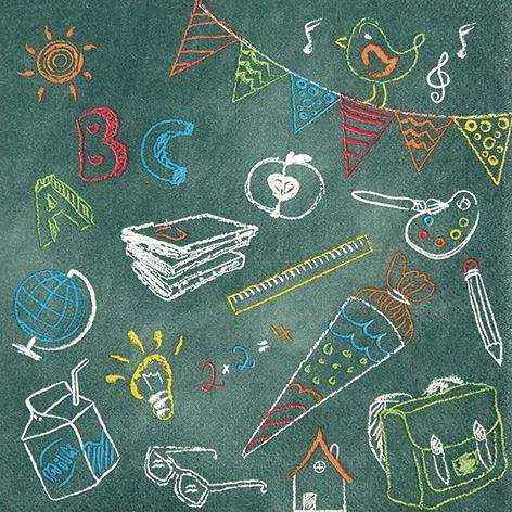 Servietten zur Einschulung,  Ereignisse - Schule,  Everyday,  lunchservietten,  Einschulung
