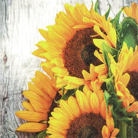 Lunch Servietten Clara,  Blumen - Sonnenblumen,  Everyday,  lunchservietten,  Sonnenblume