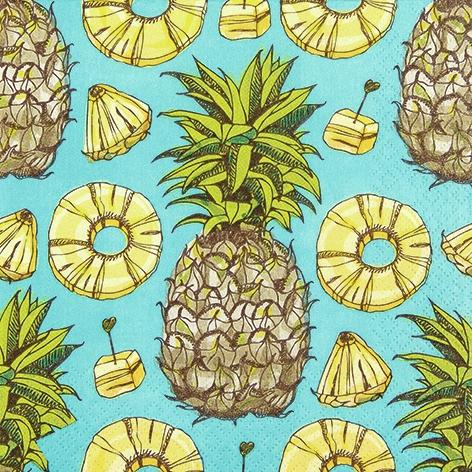 Lunch Servietten Sweet Pineapple,  Früchte -  Sonstige,  Everyday,  lunchservietten,  Ananas