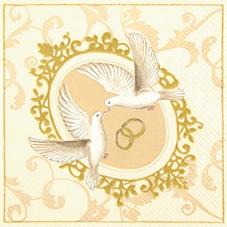 Lunch Servietten Turtle Doves,  Tiere -  Sonstige,  Ereignisse - Hochzeit,  Everyday,  lunchservietten,  Hochzeit,  Tauben