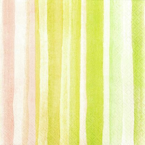 Lunch Servietten Watercolours yellow/green,  Sonstiges - Muster,  Everyday,  lunchservietten,  Linien,  Streifen