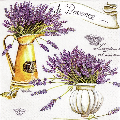 Lunch Servietten Provence,  Blumen - Lavendel,  Everyday,  lunchservietten,  Lavendel