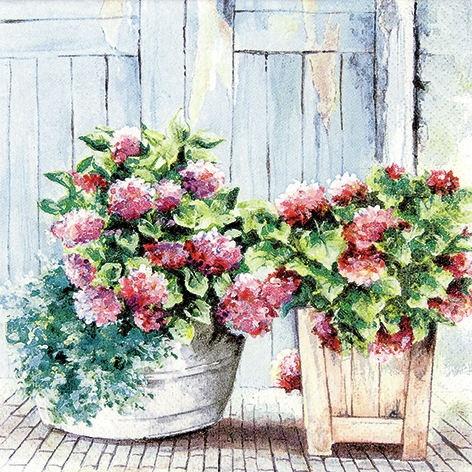 Servietten 33 x 33 cm,  Blumen -  Sonstige,  Everyday,  lunchservietten,  Hortensien