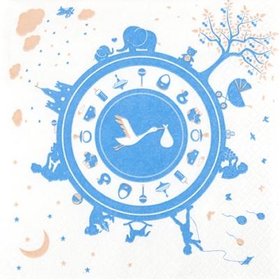 Lunch Servietten Newborn blue,  Ereignisse - Geburt,  Everyday,  lunchservietten,  Geburt,  Baby,  Jungen