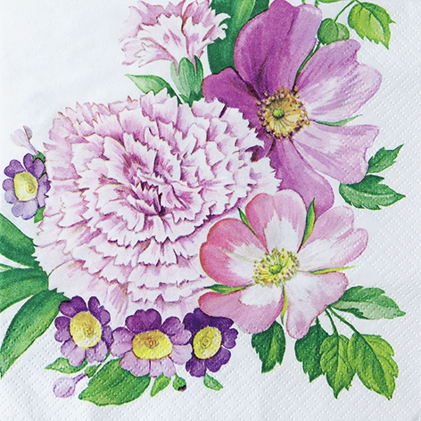 Napkins 33x33 cm - Carnation Flower