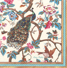 20 Servietten - 33 x 33 cm Pfau - Neues Palais,  Blumen -  Sonstige,  Everyday,  lunchservietten,  Pfau