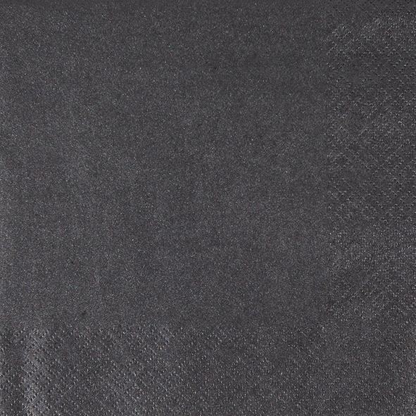 Dinner Servietten Pearl Effect - schwarz, dinnerservietten,  schwarz