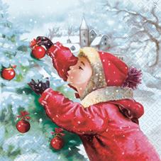 Lunch Servietten Anna,  Menschen - Kinder,  Weihnachten - Baumschmuck,  lunchservietten