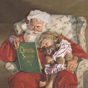 Lunch Servietten Santa Night Story