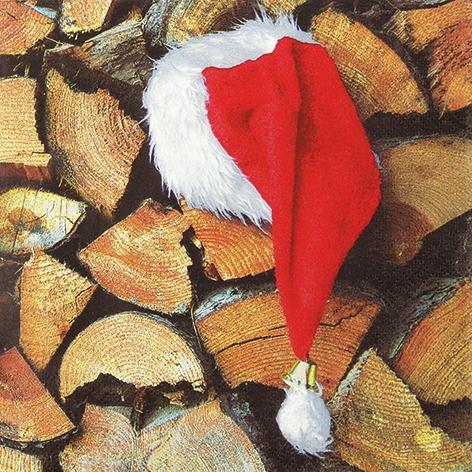 Lunch Servietten Work Break,  Weihnachten,  lunchservietten,  Mütze,  Holz