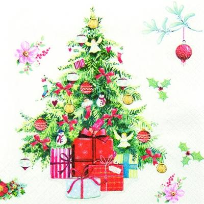 Home Fashion,  Weihnachten - Weihnachtsbaum,  Weihnachten - Geschenke,  Weihnachten,  lunchservietten,  Weihnachtsbaum,  Geschenke