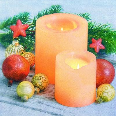 Lunch Servietten Candle Atmosphere,  Weihnachten - Kerzen,  Weihnachten,  lunchservietten,  Kerzen,  Kugeln