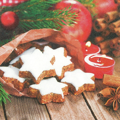 Servietten Weihnachten,  Essen - Kuchen / Keks,  Weihnachten,  lunchservietten,  Kekse