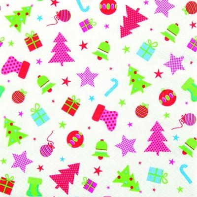 Servietten nach Motiven,  Weihnachten - Geschenke,  Weihnachten,  lunchservietten,  Weihnachtsbaum,  Sterne,  Stiefel,  Geschenke