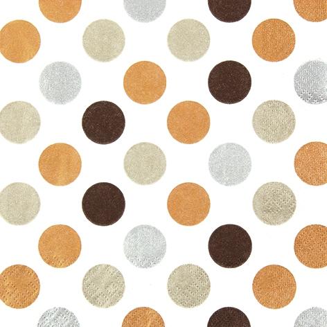 Lunch Servietten Maxi Dots copper,  Everyday,  lunchservietten,  Punkte