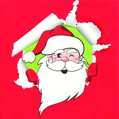 Lunch Servietten Funny Santa