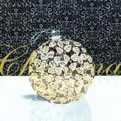 Lunch Servietten Glamorous Ball gold,  Weihnachten - Baumschmuck,  Weihnachten,  lunchservietten,  Baumschmuck,  Kugeln