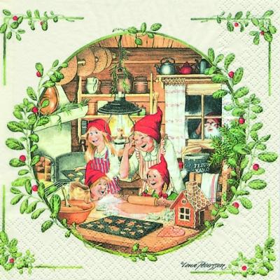 20 Servietten - 33 x 33 cm Christmas Bakery,  Menschen - Personen,  Essen - Kuchen / Keks,  Weihnachten,  lunchservietten
