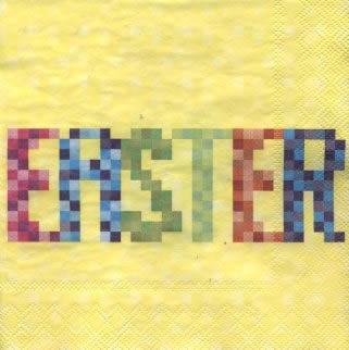 20 Servietten - 33 x 33 cm ,  Sonstiges - Schriften,  Ostern,  lunchservietten,  Schriften