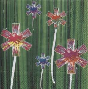 20 Servietten - 25 x 25 cm FLASH FLOWERS                           ,  Blumen -  Sonstige,  cocktail servietten