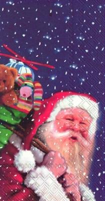 Servietten nach Firmen,  Spielsachen - Stofftiere,  Weihnachten,  lunchservietten,  Weihnachtsmann,  Teddybär