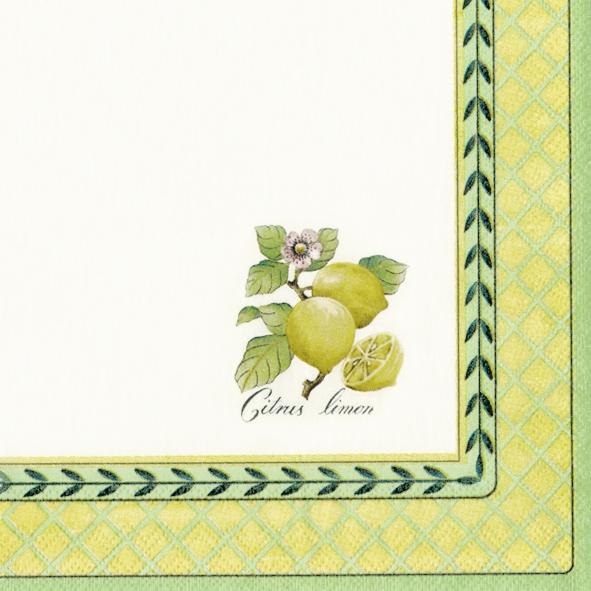 Servietten 25 x 25 cm,  Früchte - Südfrüchte,  Everyday,  cocktail servietten,  Zitronen