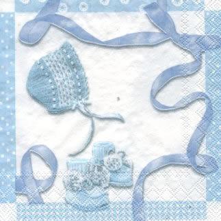 20 Servietten - 25 x 25 cm BABY SHOWER blue                        ,  Ereignisse - Geburt,  Everyday,  cocktail servietten,  Geburt,  Baby,  Junge