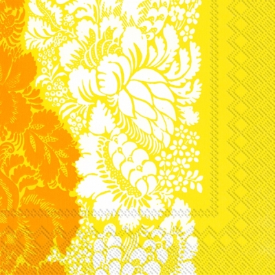 Cocktail Servietten ANANAS yellow,  Blumen -  Sonstige,  Everyday,  cocktail servietten,  Blumen,  Muster