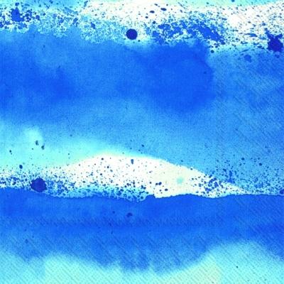 Cocktail Servietten LUOVI blue,   Einfarbige Servietten,  Everyday,  cocktail servietten,  blau