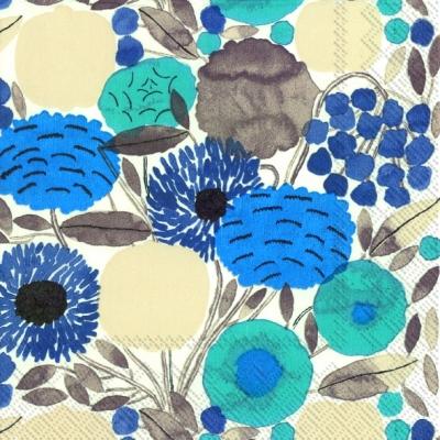 Cocktail Servietten SITRUUNAPUU blue,  Blumen -  Sonstige,  Everyday,  cocktail servietten,  Blumen