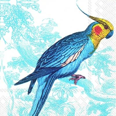 Servietten 25 x 25 cm,  Tiere - Vögel,  Everyday,  cocktail servietten,  Papagei