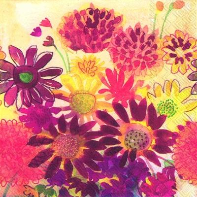 Servietten 25 x 25 cm,  Blumen -  Sonstige,  Herbst,  cocktail servietten,  Blumen