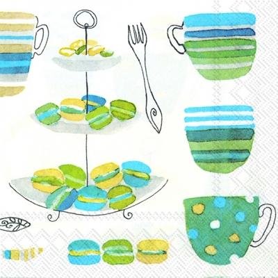 Servietten Everyday,  Essen - Kuchen / Keks,  Getränke Kaffee / Tee,  Everyday,  cocktail servietten,  Kuchen,  Kaffee