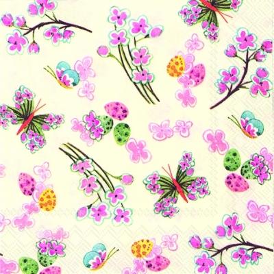 Servietten nach Jahreszeiten,  Tiere - Schmetterlinge,  Blumen -  Sonstige,  Everyday,  cocktail servietten,  Blumen,  Schmetterlinge