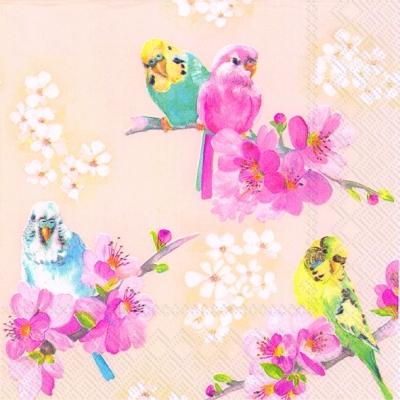 Everyday,  Tiere - Vögel,  Blumen -  Sonstige,  Everyday,  cocktail servietten,  Kirschblüte,  Vögel