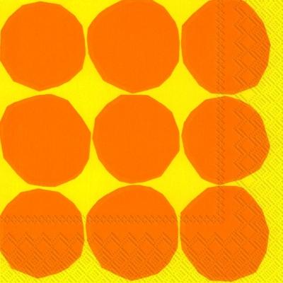 Cocktail Servietten KIVET yellow,  Sonstiges - Muster,  Everyday,  cocktail servietten,  Punkte,  Kreise