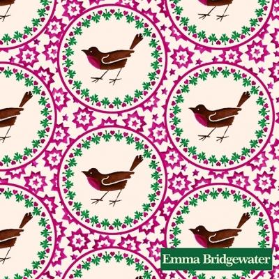 Emma Bridgewater,  Tiere - Vögel,  Weihnachten,  cocktail servietten,  Vögel,  Sterne